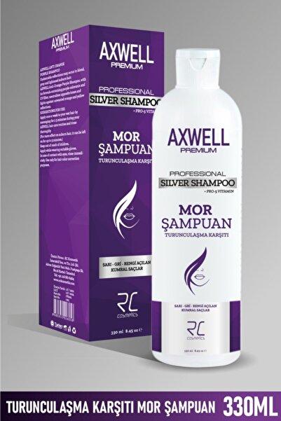 RC COSMETİCS Axwell Premium Professionel Silver Shampoo Turunculaşma Karşıtı Mor Şampuan 330ml