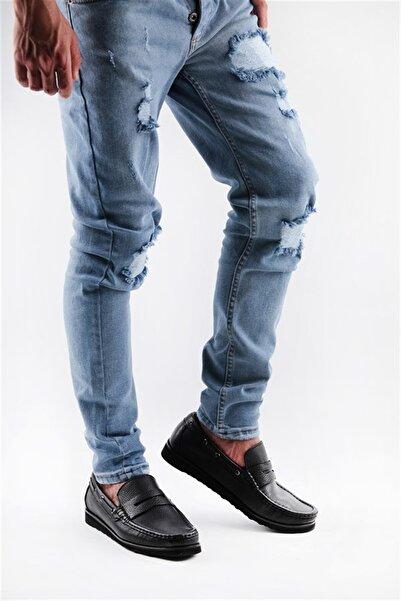 Buffalo El Yapımı Siyah Loafer Ayakkabı