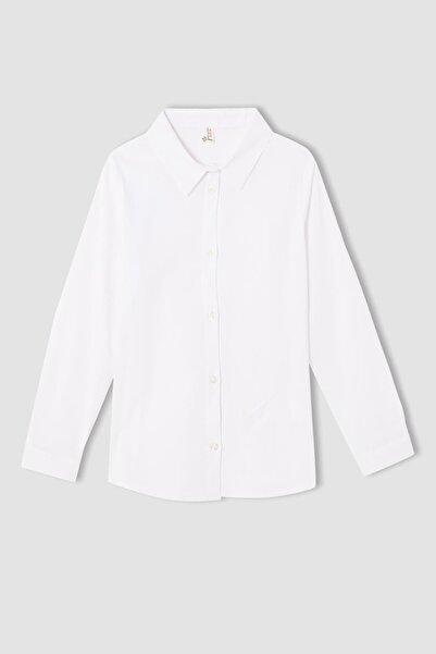 DeFacto Kız Çocuk Regular Fit Uzun Kollu Gömlek
