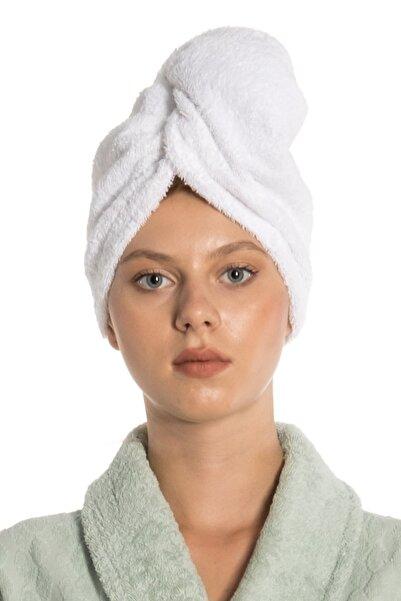 eumenia Düz Eponj Düğmeli Havlu Saç Kurulama Bonesi