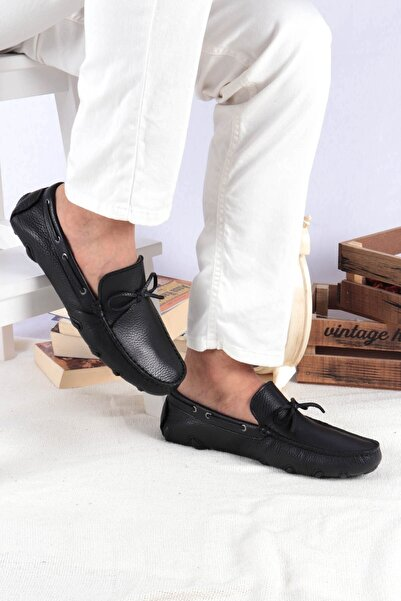 Buffalo Comfort Erkek Siyah Loafer Ayakkabı