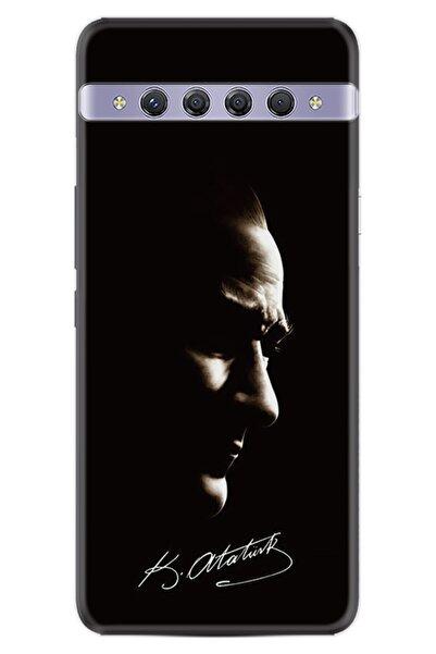 TCL 10 Plus Uyumlu Kılıf Desenli Silikon Kılıf Atatürk Portre Ve Imza 1329