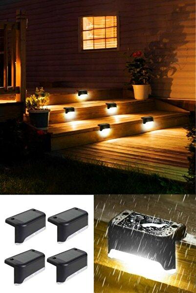 Genc Home Solar Güneş Enerjili Köşebent Merdiven Veranda Bahçe Led Lamba Beyaz Işık - 2 Adet