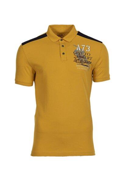 Arma Y0tyo2663 Erkek Baskılı Polo Yaka Slim Fit T-shirt Kısa Kollu Yazlık Tişört