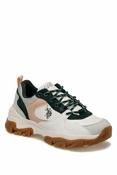 U.S. Polo Assn. Tracky Beyaz Yeşil Pembe Kadın Outdoor Sneaker 101038455