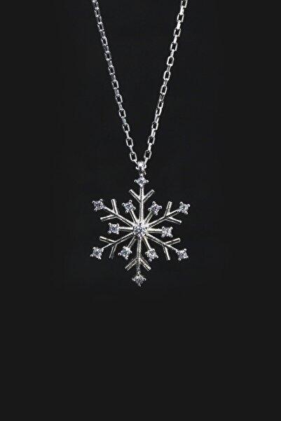 Parmas Design Kadın Gümüş Kar Tanesi Kolye