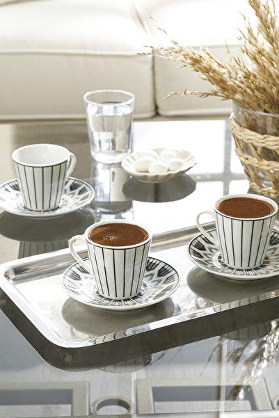 English Home Adelmo Porselen 6'lı Kahve Fıncan Takımı 80 Ml Siyah
