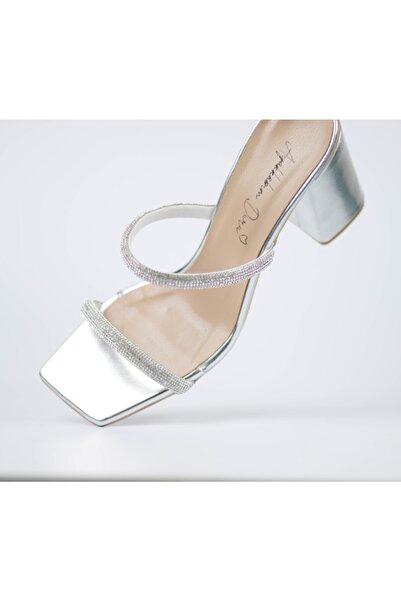 SERULA Gümüş Diomand Taşlı Sandalet