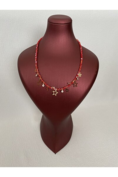 Accessories Red Starry Necklace