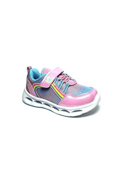 İncimoda Kız Çocuk Pembe Işıklı Yürüyüş ve Spor Ayakkabısı