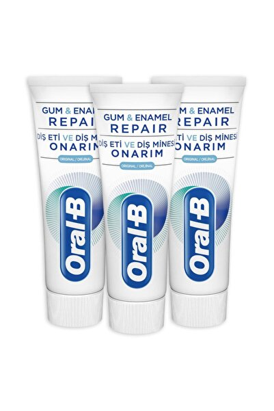 Oral-B Diş Eti Ve Diş Minesi Onarım Diş Macunu 75 ml X 3