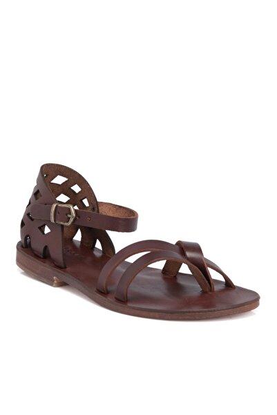 Tergan Taba Deri Kadın Sandalet N64986o6t