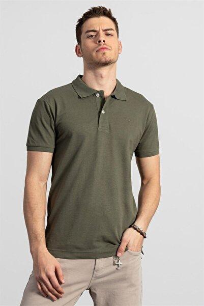 Tudors Polo Yaka Haki Erkek T-shirt