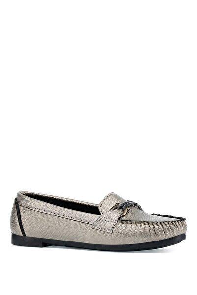 İnci Gümüş Kadın Loafer Ayakkabı