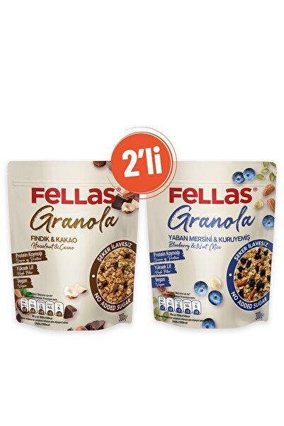 Fellas Granola 2'li - Yaban Mersini & Kuruyemişli 300 gr + Fındık & Kakaolu 300 gr