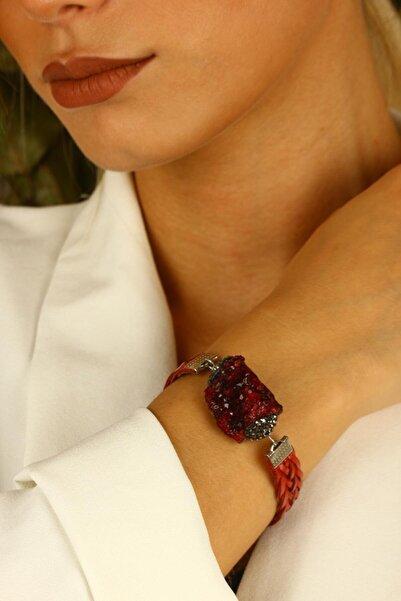 Dr. Stone Doğaltaş Kadın Ametist Bileklik Gümüş Kaplama Xz121ar328
