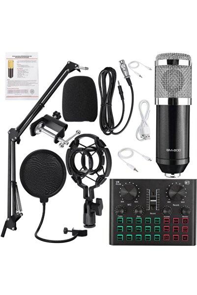 Streak V8 Plus Ses Kartlı Stüdyo Kayıt Youtuber Mikrofonu Seti Bm800