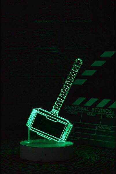 Yubi Design Mjölnir , Thor - 3 Boyutlu Dekoratif Gece Lambası 3d