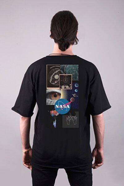 Darkia Nasa Uzay Özel Tasarım Çift Taraf Baskılı Oversize Unisex Tişört