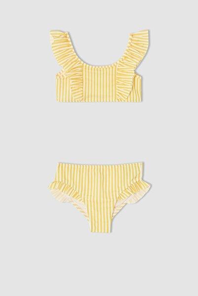 DeFacto Kız Çocuk Çizgili Esnek Bikini Takımı V8474A621HS
