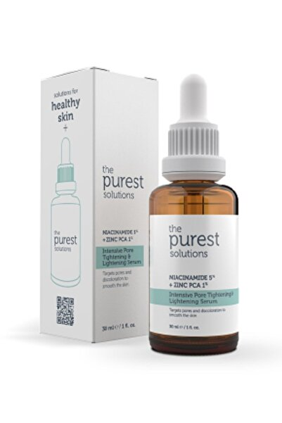 The Purest Solutions Gözenek Siyah Nokta ve Sivilce Oluşumunu Gidermeye Yardımcı Bakım Serumu Niacinamide 5%+Zınc Pca1%