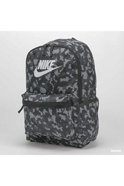 Nike Sırt Çantası Desenli Cv0835 Siyah Gri Laptop Bölmeli