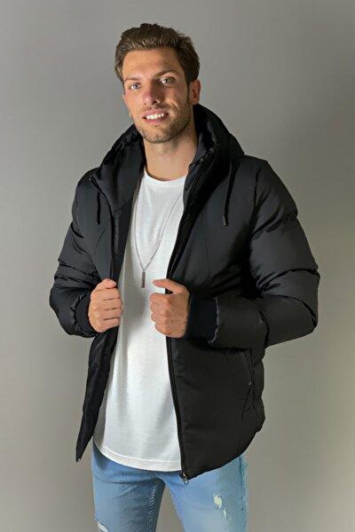 Jaglion Erkek Kışlık Şişme Siyah Mont