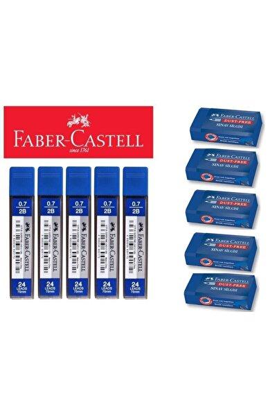 Faber Castell 5 Sınav Silgisi + 5 0.7 Uç Seti