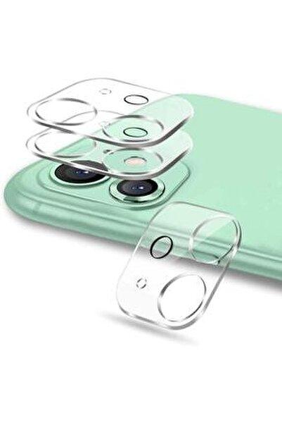 Apple Iphone 11 Kamera Lens Koruyucu Tam Kaplayan Şeffaf
