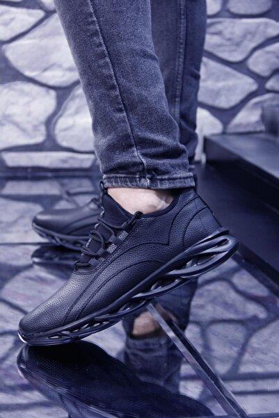 bigport Hafif Ve Esnek Tabanlı Rahat Giyimli Suya Dayanıklı Erkek Spor Ayakkabı Siyah, Siyah Beyaz, Siyah Sa