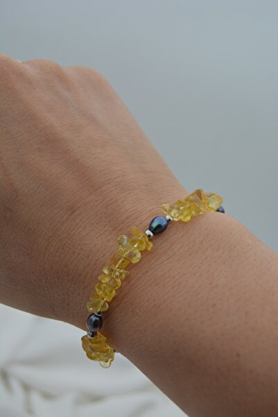 Stoneage Jewellery Sitrin Ve Arpa Inci Bileklik
