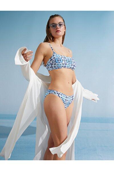 Koton Ince Askili Bikini Üstü Straplez Baskili