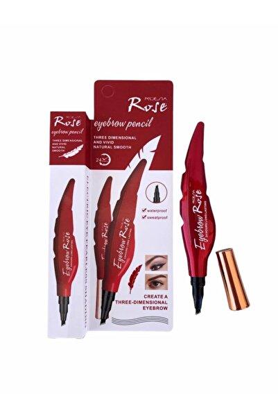 Roesıa Rose Cosmetics Yaprak Model Kalıcı Kaş Kalemi Microblading Etkili Kahverengi 03