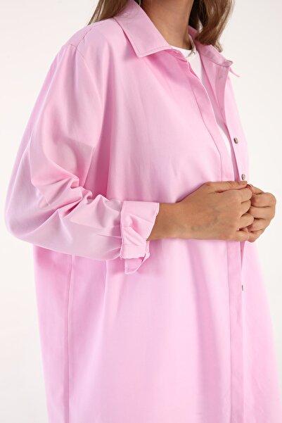 ALLDAY Pembe Büyük Beden Gömlek Tunik