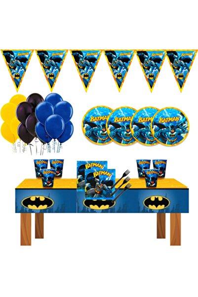 Batman Betmen Doğum Günü Parti Malzemeleri Süsleri Seti 16 Kişilik