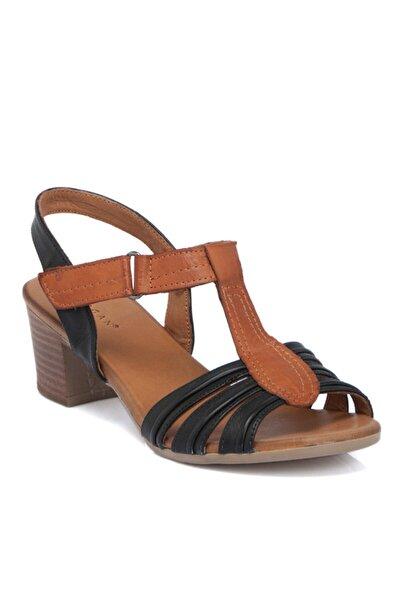 Tergan Siyah Deri Kadın Ayakkabı 64404a23