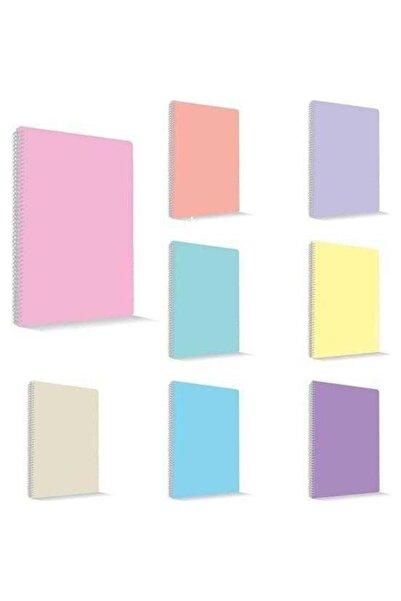 Umix My Note Flex Pastel A4 60 Yaprak Kareli Spiralli Plastik Kapak