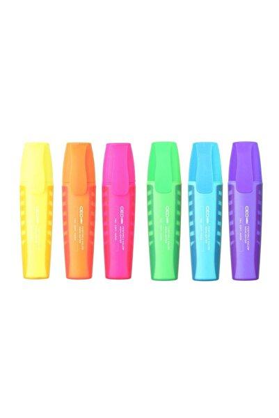 Ceo Neon Renkler Fosforlu Kalem 6 'lı Set