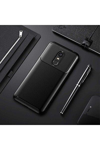 Xiaomi Redmi 5 Plus Uyumlu Kamera Korumalı (carbon Tasarım) Nezih Case Silikon Kılıf Siyah