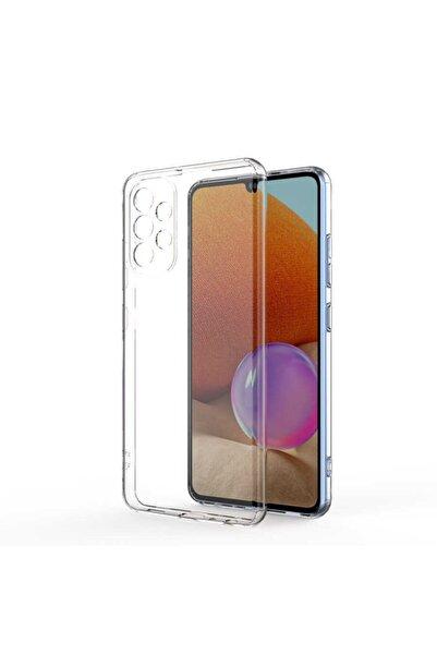 Samsung Galaxy A32 Uyumlu Kılıf Kamera Korumalı Yumuşak Şeffaf Ince Süper Silikon