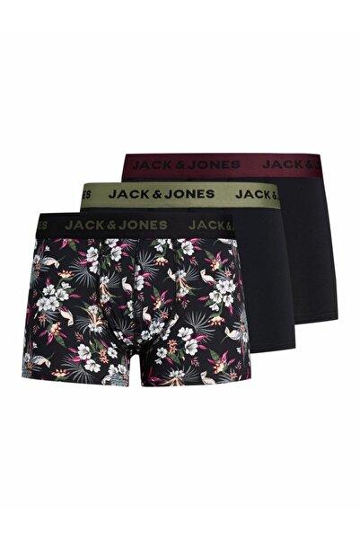 Jack & Jones Jacflower Mıcrofiber 3lü Paket Boxer 12194284