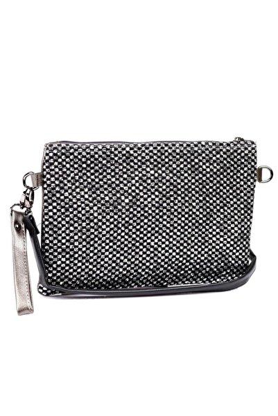 Capone Outfitters Kadın Gümüş Clutch Çanta