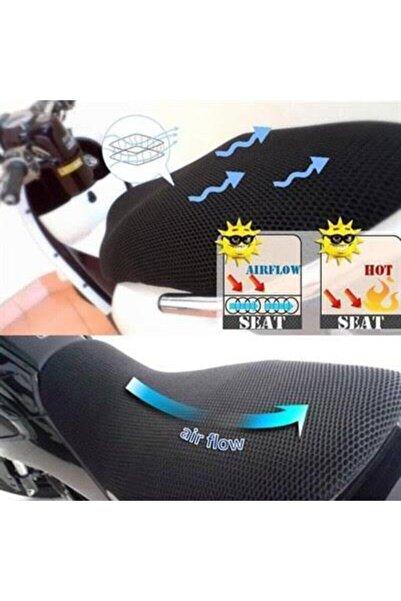 KNT Motosiklet Sele Kılıfı 3d Çift Katlı Fileli Motosiklet Koltuk Kılıfı