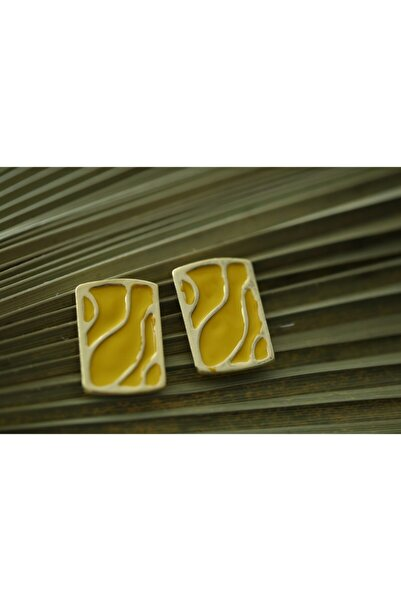 Accessories Yellow Art Earrıngs