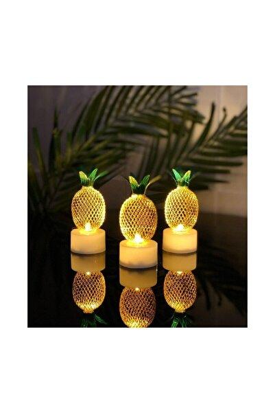 minidünyam 3'lü Mini Ananas Gece Lambası