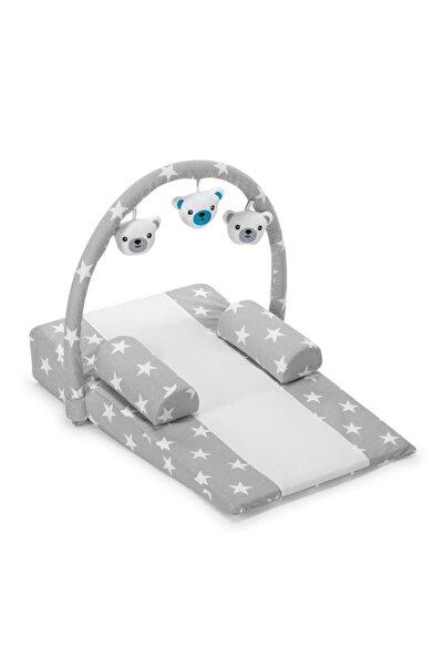 POKY BEBE Bebek Gri Çok Amaçlı Oyuncaklı Reflü Yatağı