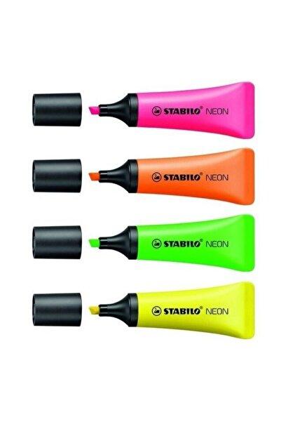 Stabilo Stabılo Neon Fosforlu Kalem 4lü Set