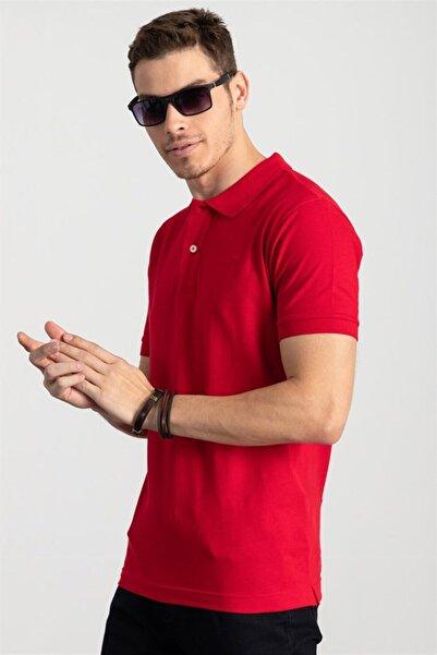 Tudors Polo Yaka Kırmızı T-shirt