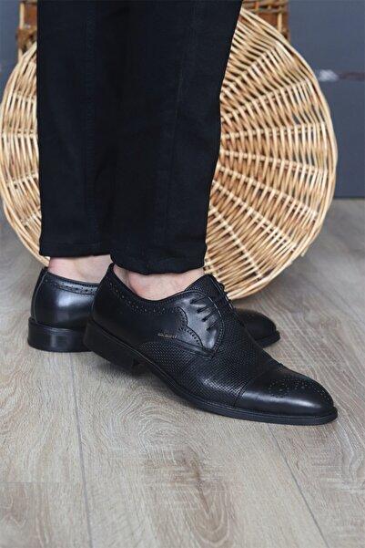 Cacharel Erkek Siyah Hakiki Deri Klasik Ayakkabı