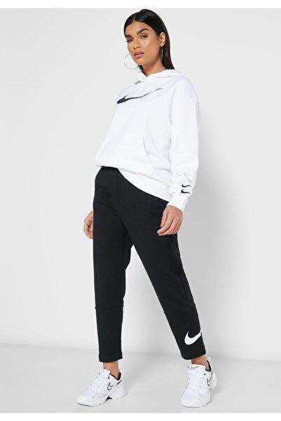 Nike Swoosh Oversize Bol Kesim Kadın Siyah Eşofman Altı Cj3769-010